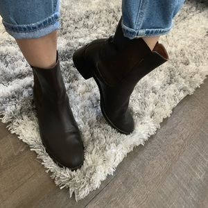 Tommy Hilfiger Leather Brown Boots Booties Ankle